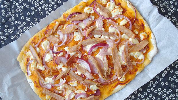 """Pizza """"Cebreira"""", con queixo de Cebreiro"""