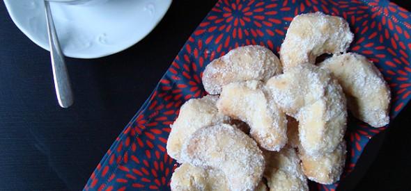 Biscoitos de vainilla estilo vienés