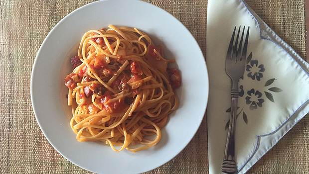 Spaghetti á amatriciana