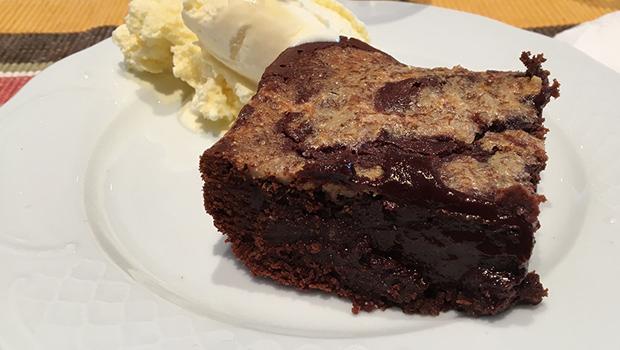 Brownies de chocolate e centeo